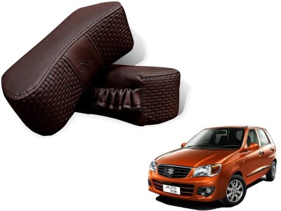 Auto Pearl Brown Leatherite Car Pillow Cushion for Maruti Suzuki