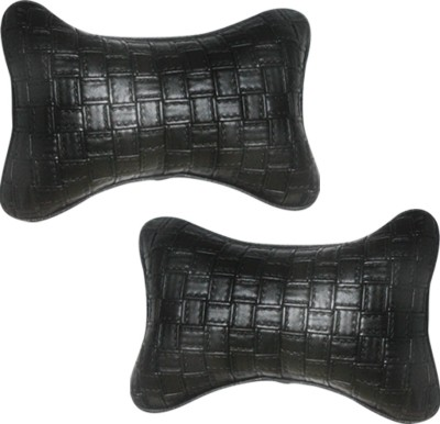 Vheelocityin Black Leatherite Car Pillow Cushion for Maruti Suzuki
