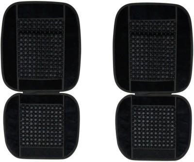 Speedwav Black Wooden, Velvet Car Pillow Cushion for Universal For Car