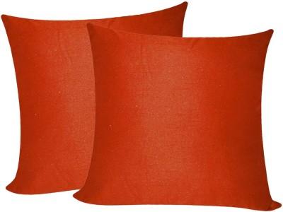 Zikrak Exim Orange Polyester Car Pillow Cushion for Universal For Car