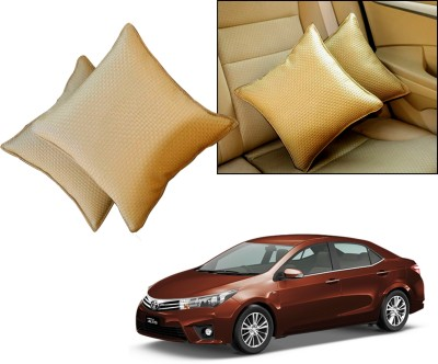 Auto Pearl Beige Leatherite Car Pillow Cushion for Toyota