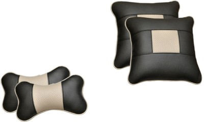 Challenger Black, Grey Leatherite Car Pillow Cushion for Universal For Car