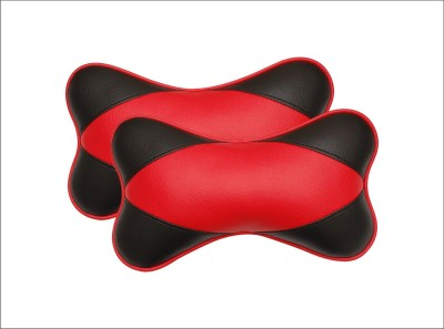 Car Fashion Red Leatherite Car Pillow Cushion for Universal For Car