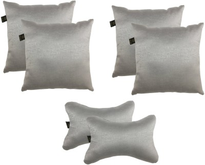 Lushomes Grey Polyester Car Pillow Cushion for Universal For Car