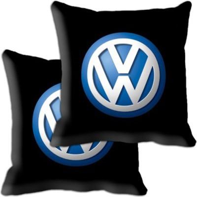 Shopnow Black Silk Car Pillow Cushion for Volkswagen