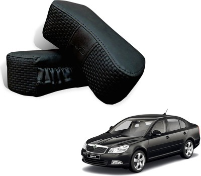 Auto Pearl Black Leatherite Car Pillow Cushion for Skoda