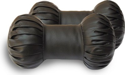 HMC Brown Leatherite Car Pillow Cushion for Universal For Car