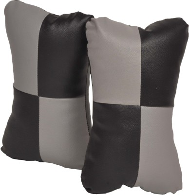 Celix Grey, Black Leatherite Car Pillow Cushion for Universal For Car