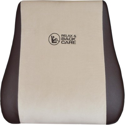 Challenger Brown, Beige Leatherite, Fabric Car Pillow Cushion for Universal For Car