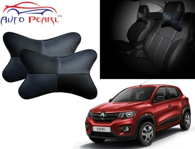 Auto Pearl Black, Grey Leatherite Car Pillow Cushion for Renault