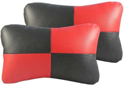 Autofurnish Red, Black Fabric Car Pillow Cushion for Universal For Car(Contemporary, Pack of 2)