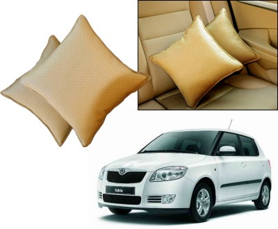 Auto Pearl Beige Leatherite Car Pillow Cushion for Skoda