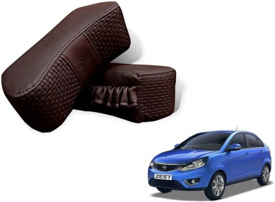 Auto Pearl Brown Leatherite Car Pillow Cushion for Tata