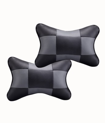 Auto Pearl Black, Grey Leatherite Car Pillow Cushion for Universal For Car