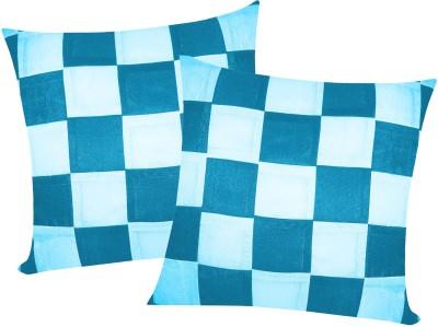 Zikrak Exim Blue Polyester Car Pillow Cushion for Universal For Car