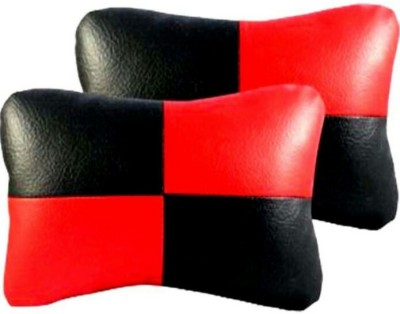 ElectriBles Red, Black Leather Car Pillow Cushion for Nissan