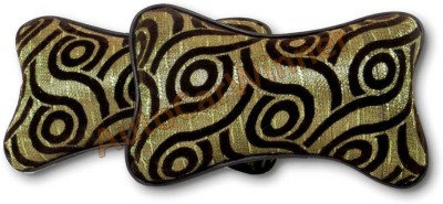AutoCarWinner Gold, Brown Fabric Car Pillow Cushion for Universal For Car