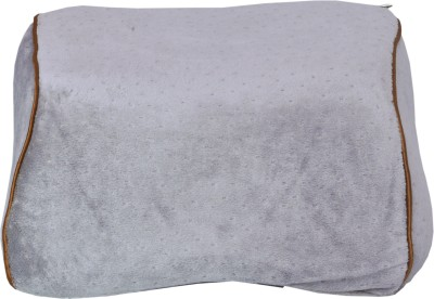 Riddhi Siddhi Grey Cotton Car Pillow Cushion for Universal For Car(Rectangular)