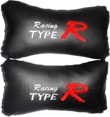 AutoKraftZ Grey, Black Leatherite Car Pillow Cushion for Universal For Car
