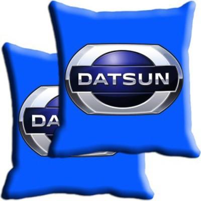 Shopnow Blue Silk Car Pillow Cushion for Datsun