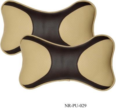 Car Fashion Beige Leatherite Car Pillow Cushion for Universal For Car