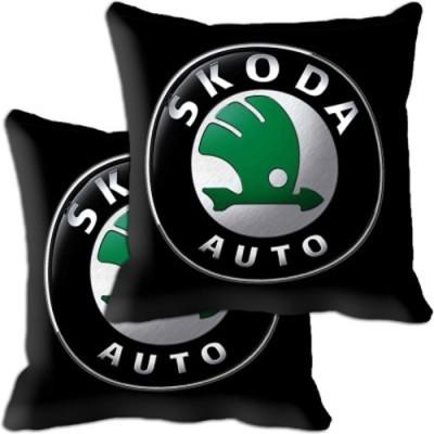 Shopnow Black Silk Car Pillow Cushion for Skoda