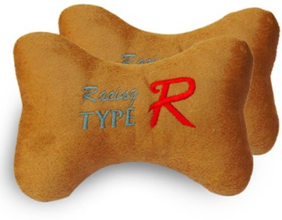 Type R Brown Cotton Car Pillow Cushion for NA
