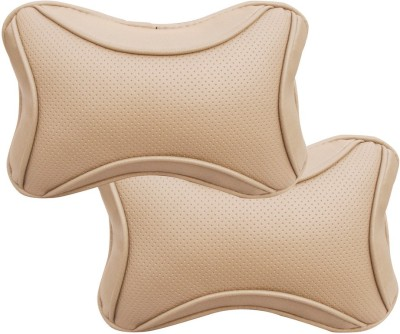 Auto Pearl Beige Leatherite Car Pillow Cushion for Chevrolet