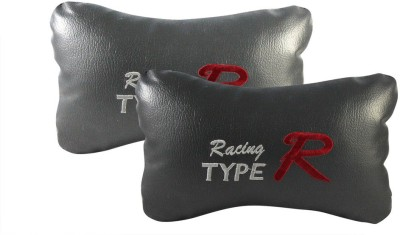 Type R Grey Leatherite Car Pillow Cushion for Universal For Car
