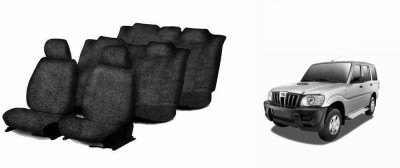 Speedwav Cotton Car Seat Cover For Mahindra Scorpio(Without Back Seat Arm Rest, 5 Seater, 3 Back Seat Head Rests)
