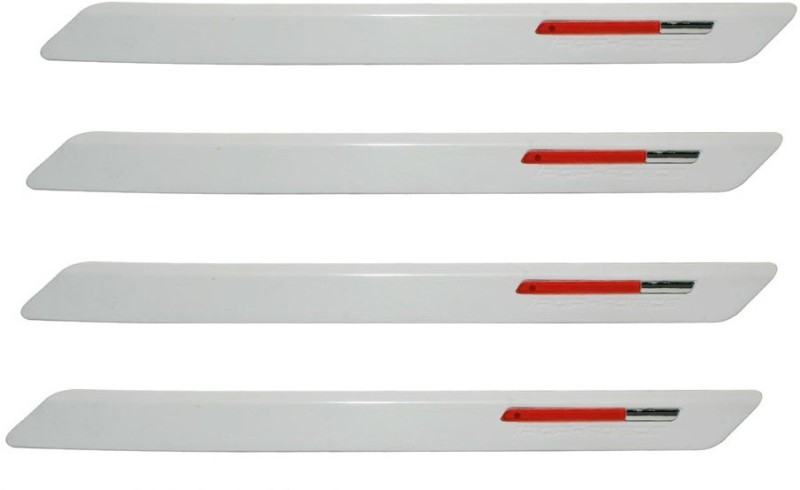 AutoKraftZ Premium Bumper Protector63 Car Side Beading(White, Red)