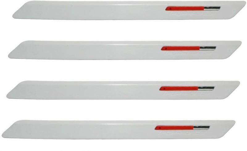 AutoKraftZ Premium Bumper Protector73 Car Side Beading(White, Red)