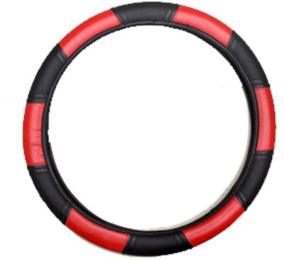 Vheelocityin Steering Cover For Maruti WagonR(Red, Black, Leatherite)