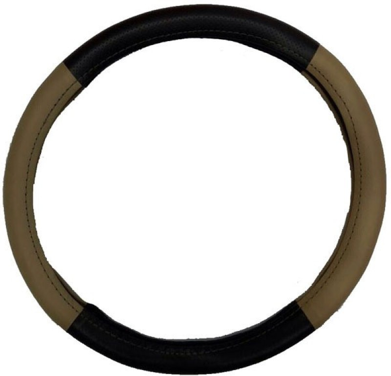 Retina Steering Cover For Nissan X-Trail(Black, Beige, Leatherite)