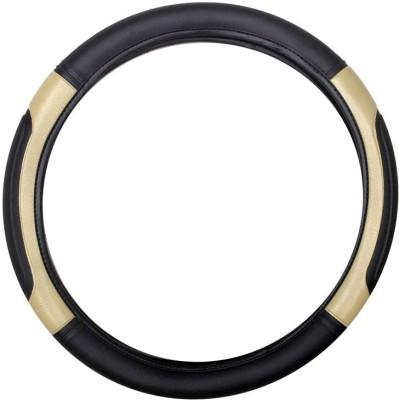 Vheelocityin Steering Cover For Toyota Etios(Black, Beige, Leatherite)