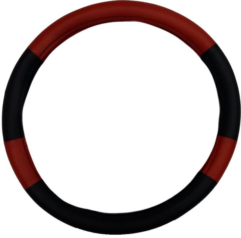 Retina Steering Cover For Skoda Superb(Black, Red, Leatherite)