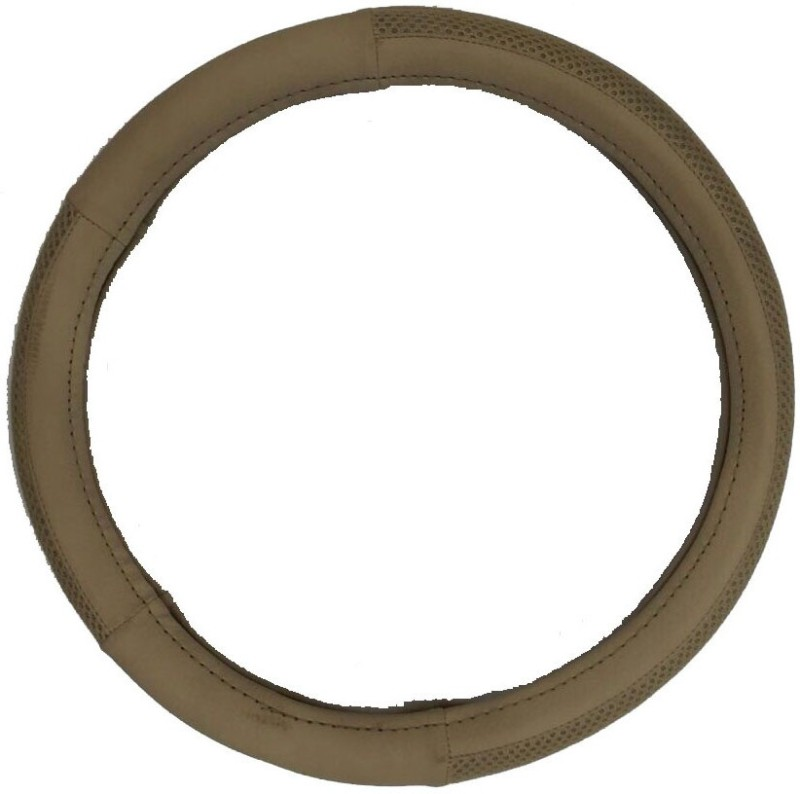 Retina Steering Cover For Fiat Linea(Beige, Leatherite)