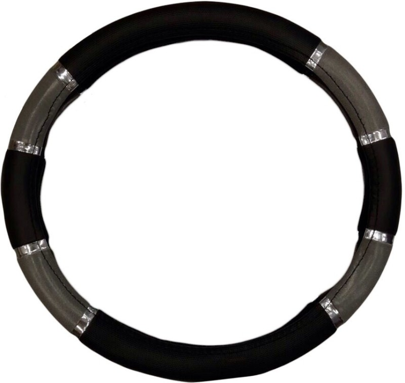 Retina Steering Cover For Hyundai i10(Black, Leatherite)