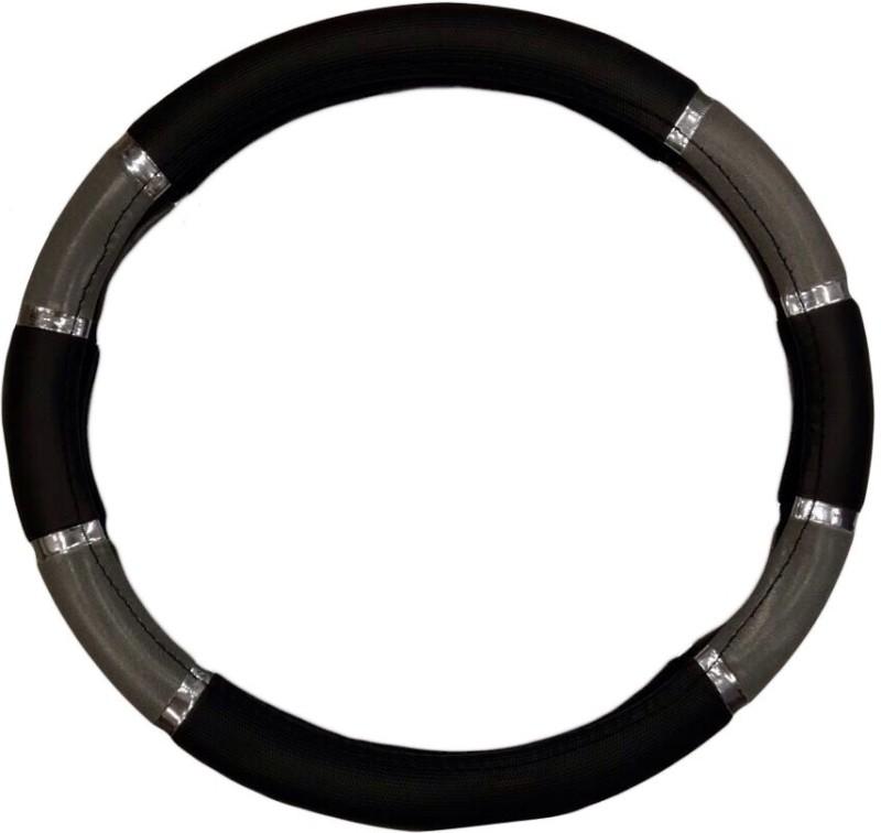 Retina Steering Cover For Hyundai Getz(Black, Leatherite)