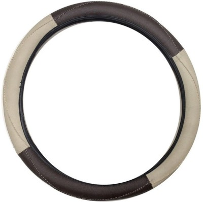 Vheelocityin Steering Cover For Tata Manza(Beige, Brown, Leatherite)