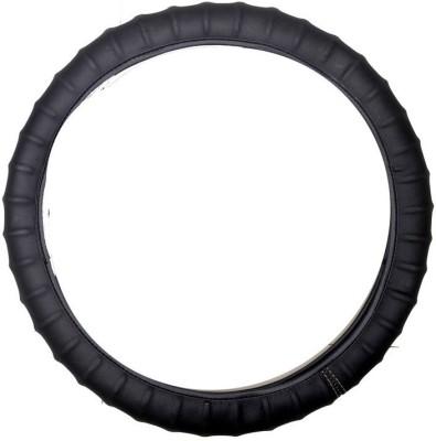 Vheelocityin Steering Cover For Hyundai i10(Black, Leatherite)