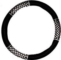 Retina Steering Cover For Hyundai Santro(Black, Leatherite)