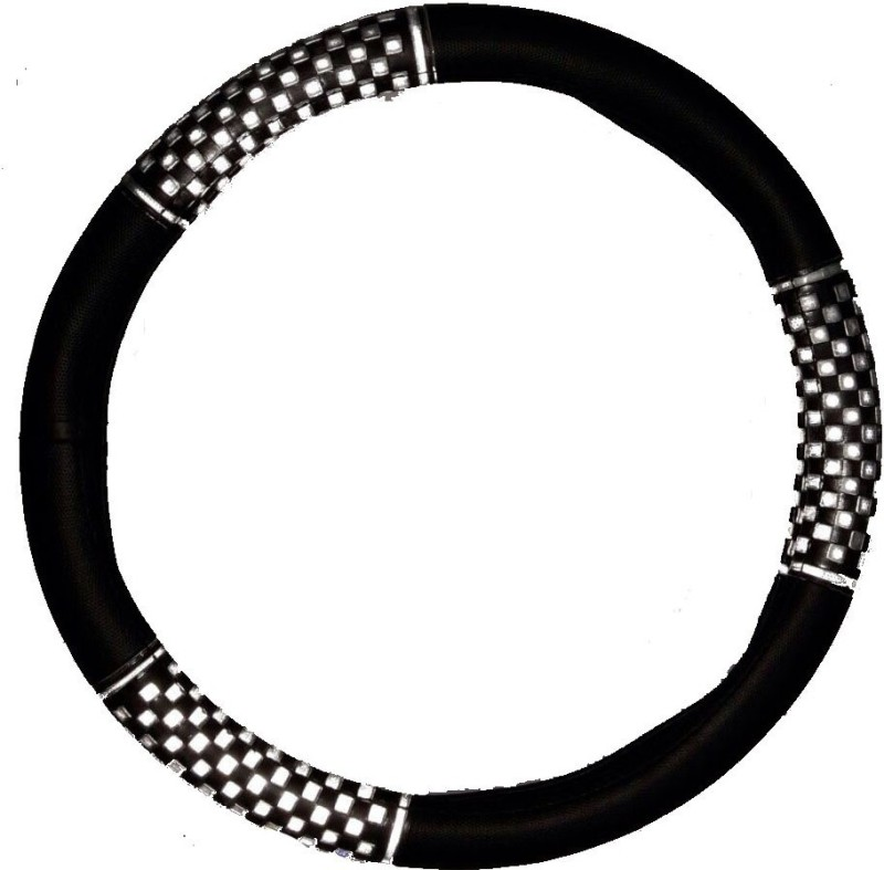 Retina Steering Cover For Volkswagen Vento(Black, Leatherite)