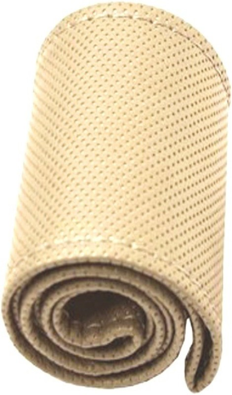 AutoKit Steering Cover For Maruti WagonR(Beige, Leatherite)