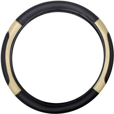 Vheelocityin Steering Cover For Ford Figo(Black, Beige, Leatherite)