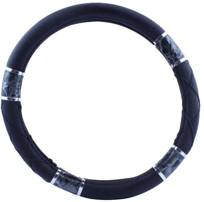 Retina Steering Cover For Volkswagen Passat(Black, Leatherite)