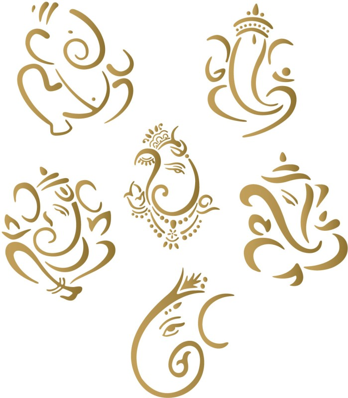 WallDesign Religious Sticker for Windows(Gold)