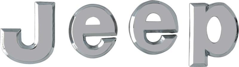WoW 3D Sticker for Sides, Bumper, Hood(Silver)