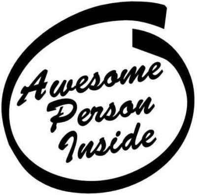 Noble Phrases Sticker for Windows, Bumper