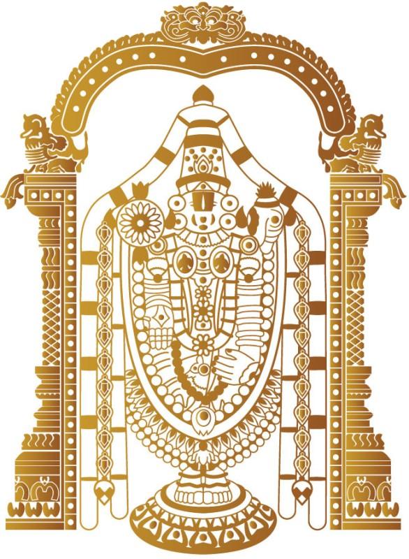 WallDesign Religious Sticker for Windows(Brown)